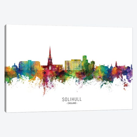 Solihull England Skyline City Name Canvas Print #MTO2703} by Michael Tompsett Art Print