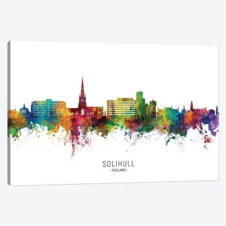 Solihull England Skyline City Name Canvas Print #MTO2703} by Michael Tompsett Art Print