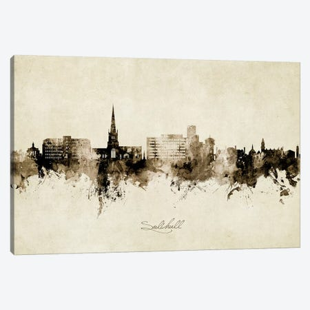 Solihull England Skyline Vintage Canvas Print #MTO2705} by Michael Tompsett Canvas Art