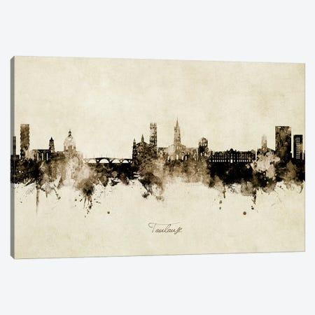 Toulouse France Skyline Vintage Canvas Print #MTO2712} by Michael Tompsett Canvas Wall Art