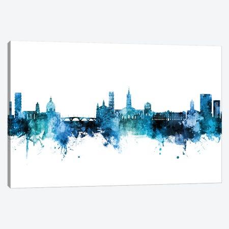 Toulouse France Skyline Blue Teal Canvas Print #MTO2715} by Michael Tompsett Art Print