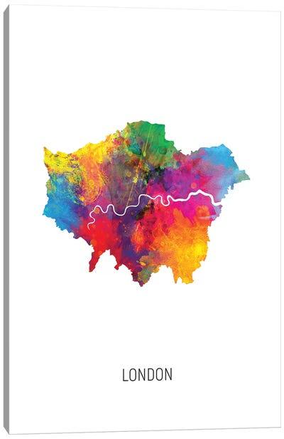 London Map Canvas Art Print