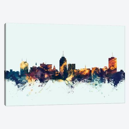 Fresno, California, USA On Blue Canvas Print #MTO271} by Michael Tompsett Canvas Wall Art