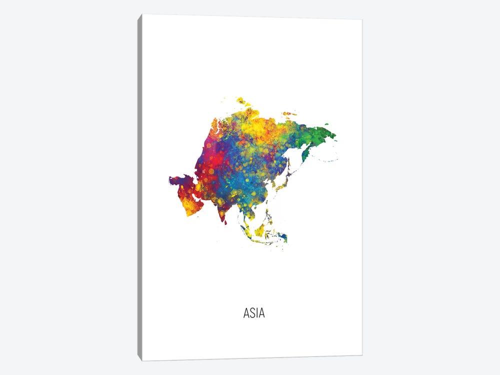 Asia Map by Michael Tompsett 1-piece Canvas Artwork