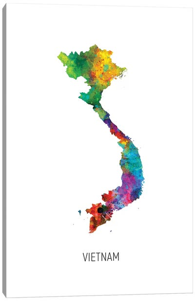 Vietnam Map Canvas Art Print