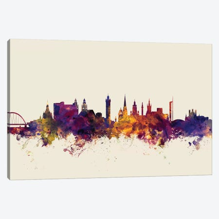 Glasgow, Scotland, United Kingdom On Beige Canvas Print #MTO272} by Michael Tompsett Canvas Wall Art
