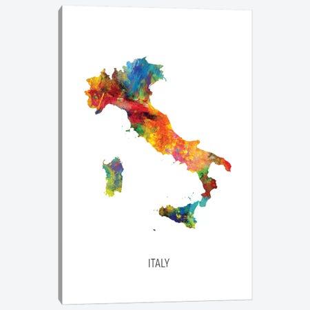 Italy Map Canvas Print #MTO2732} by Michael Tompsett Canvas Wall Art