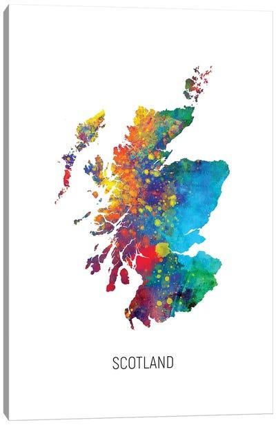 Scotland Map Canvas Art Print