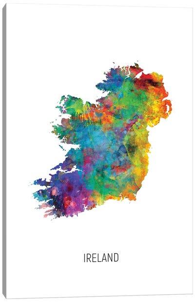 Ireland Map Canvas Art Print
