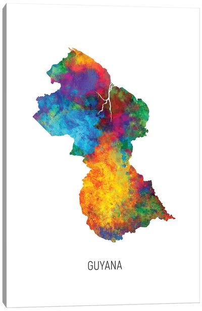 Guyana Map Canvas Art Print