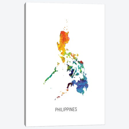 Philippines Map Canvas Print #MTO2742} by Michael Tompsett Art Print