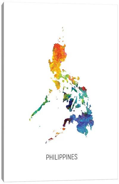 Philippines Map Canvas Art Print