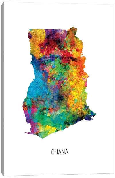 Ghana Map Canvas Art Print
