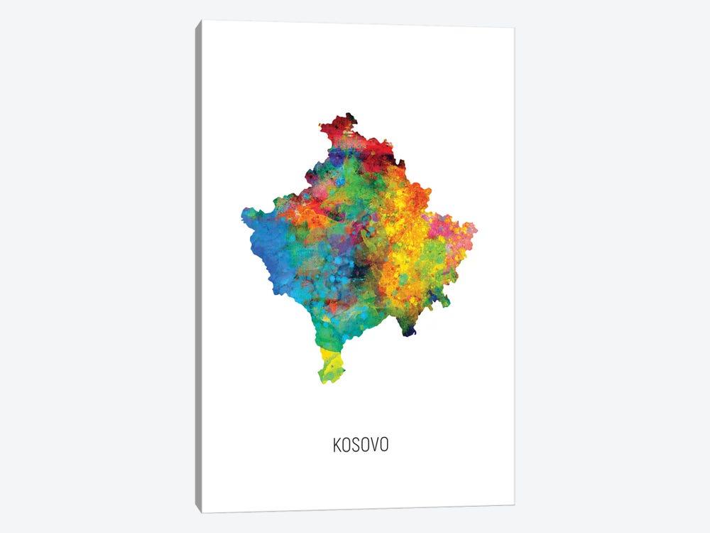 Kosovo Map by Michael Tompsett 1-piece Canvas Art