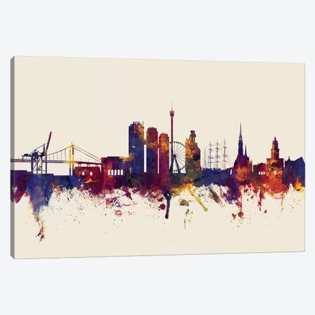 Gothenburg, Sweden On Beige Canvas Print #MTO274} by Michael Tompsett Canvas Art Print