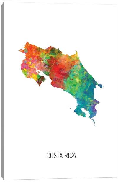 Costa Rica Map Canvas Art Print
