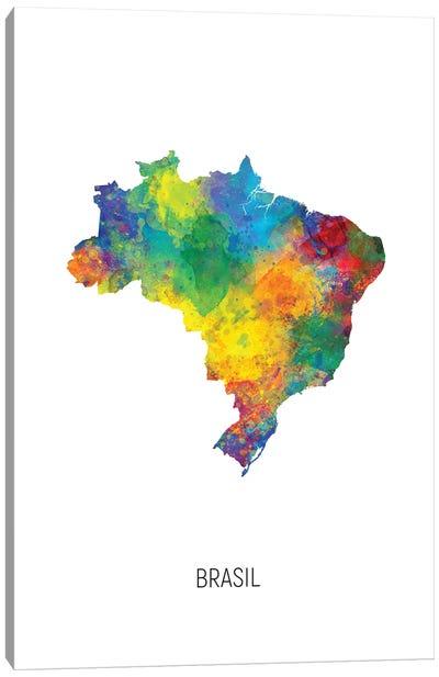 Brasil Map Canvas Art Print