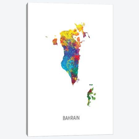 Bahrain Map Canvas Print #MTO2755} by Michael Tompsett Canvas Print