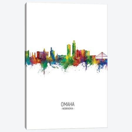 Omaha Nebraska Skyline Portrait Canvas Print #MTO2757} by Michael Tompsett Canvas Art Print
