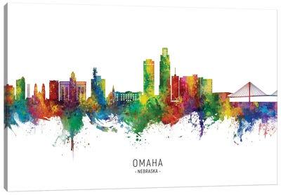 Omaha Nebraska Skyline City Name Canvas Art Print