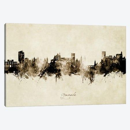 Granada Spain Skyline Vintage Canvas Print #MTO2763} by Michael Tompsett Art Print