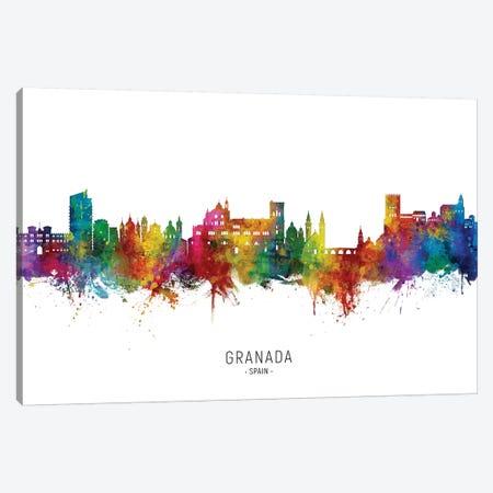 Granada Spain Skyline City Name Canvas Print #MTO2765} by Michael Tompsett Canvas Art