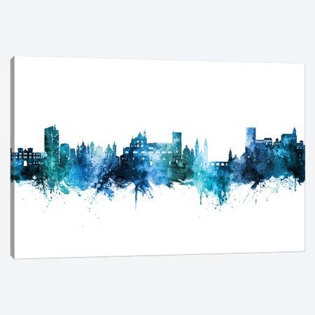 Granada Spain Skyline Blue Teal Canvas Print #MTO2766} by Michael Tompsett Canvas Wall Art