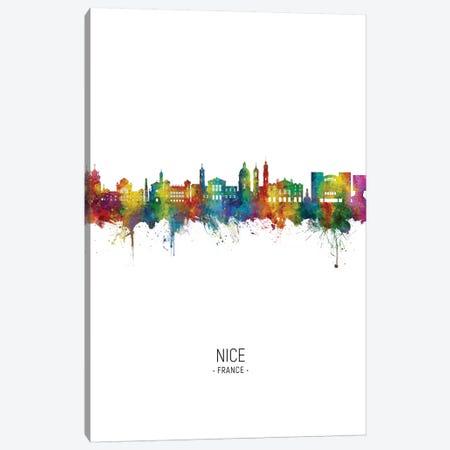Nice France Skyline Portrait Canvas Print #MTO2767} by Michael Tompsett Canvas Wall Art