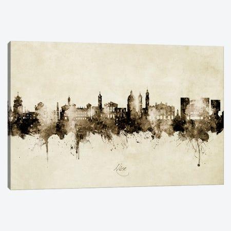 Nice France Skyline Vintage Canvas Print #MTO2768} by Michael Tompsett Art Print