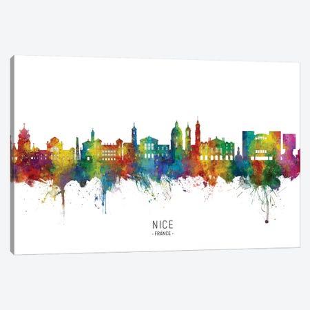 Nice France Skyline City Name Canvas Print #MTO2770} by Michael Tompsett Canvas Artwork
