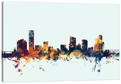 Skyline Series: Grand Rapids, Michigan, USA On Blue Canvas Print #MTO277