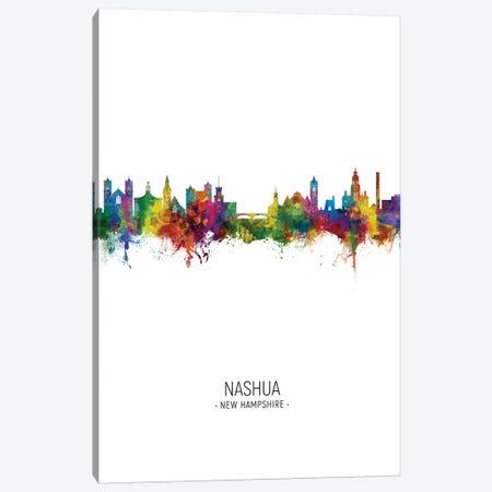 Nashua New Hampshire Skyline Portrait Canvas Print #MTO2784} by Michael Tompsett Canvas Wall Art