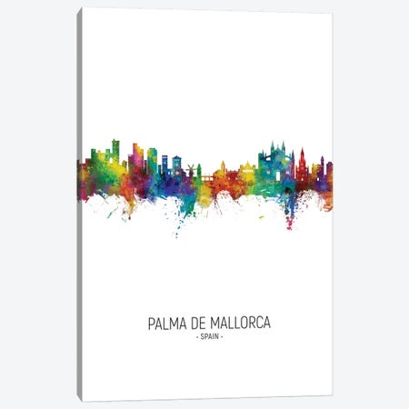 Palma De Mallorca Spain Skyline Portrait Canvas Print #MTO2789} by Michael Tompsett Canvas Art Print