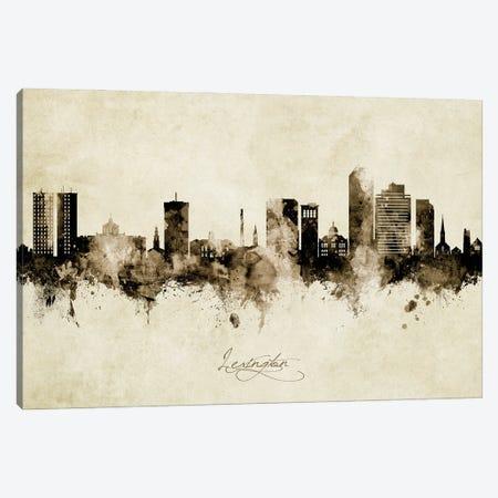 Lexington Kentucky Skyline Vintage Canvas Print #MTO2795} by Michael Tompsett Canvas Print