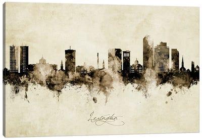 Lexington Kentucky Skyline Vintage Canvas Art Print
