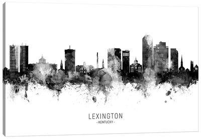 Lexington Kentucky Skyline Name Black And White Canvas Art Print