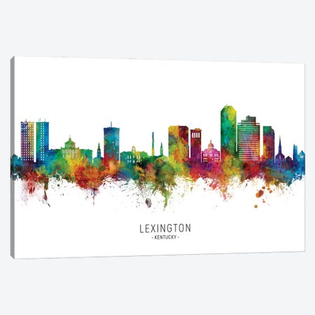 Lexington Kentucky Skyline City Name Canvas Print #MTO2797} by Michael Tompsett Canvas Print