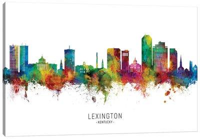 Lexington Kentucky Skyline City Name Canvas Art Print