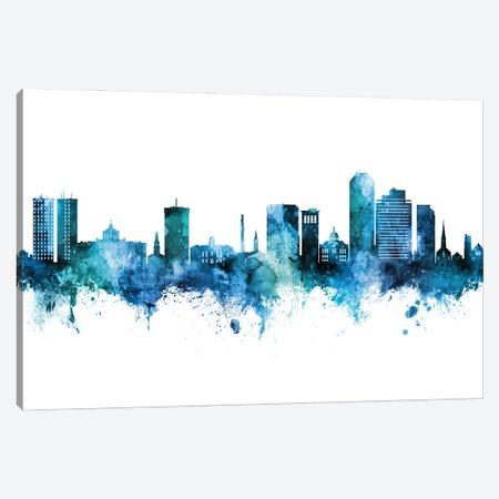 Lexington Kentucky Skyline Blue Teal Canvas Print #MTO2798} by Michael Tompsett Canvas Wall Art