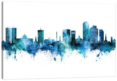 Lexington Kentucky Skyline Blue Teal Canvas Art Print