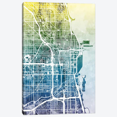 Chicago, Illinois, USA Canvas Print #MTO27} by Michael Tompsett Canvas Wall Art