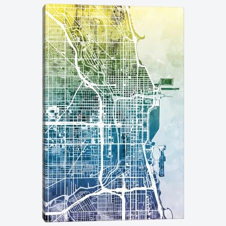 Chicago, Illinois, USA Canvas Print #MTO27} by Michael Tompsett Canvas Wall Art