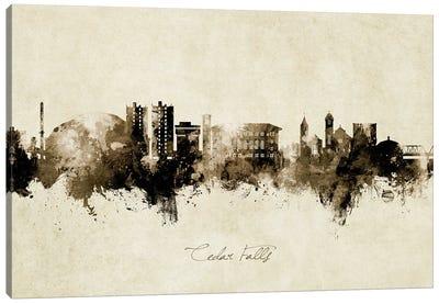 Cedar Falls Iowa Skyline Vintage Canvas Art Print