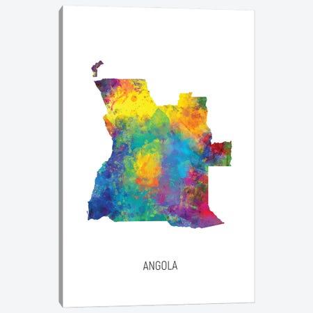 Angola Map Canvas Print #MTO2804} by Michael Tompsett Canvas Art Print