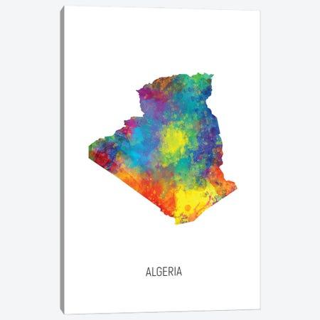 Algeria Map Canvas Print #MTO2806} by Michael Tompsett Canvas Art Print