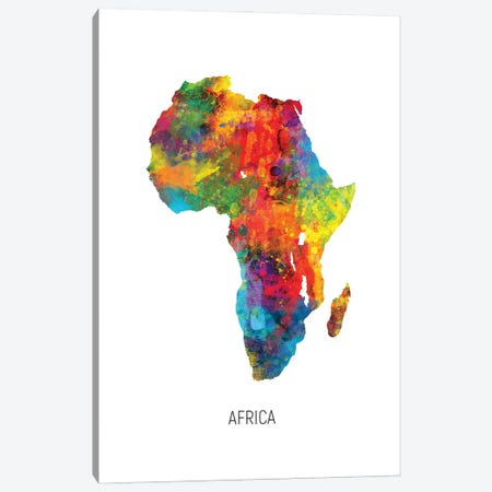 Africa Map Canvas Print #MTO2807} by Michael Tompsett Canvas Print