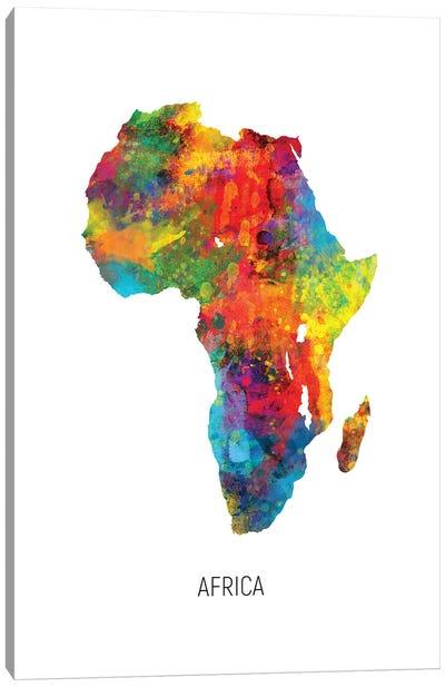 Africa Map Canvas Art Print