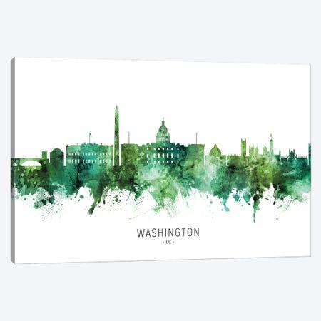 Washington DC Skyline Green Canvas Print #MTO2814} by Michael Tompsett Canvas Art