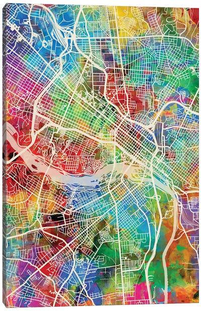 Richmond VA Map Color Canvas Art Print
