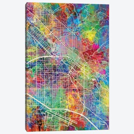 Boise Idaho Map Color Canvas Print #MTO2825} by Michael Tompsett Canvas Art Print